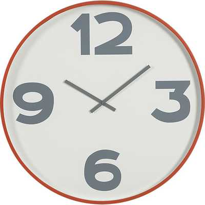 "12-3-6-9 24"" wall clock - CB2"