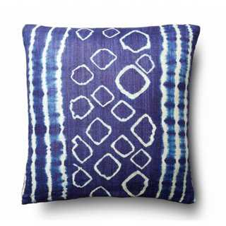 Dino 20x20 Silk Pillow, Indigo - One Kings Lane