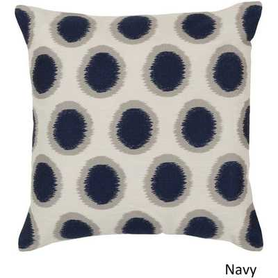 Decorative Balin 20-inch Pillow Cover - Navy - Overstock