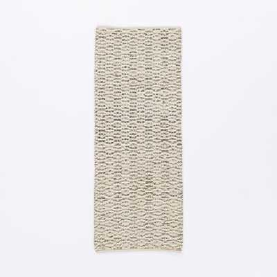 Popcorn Shag Wool Rug, 2.5'X7', Ivory - West Elm