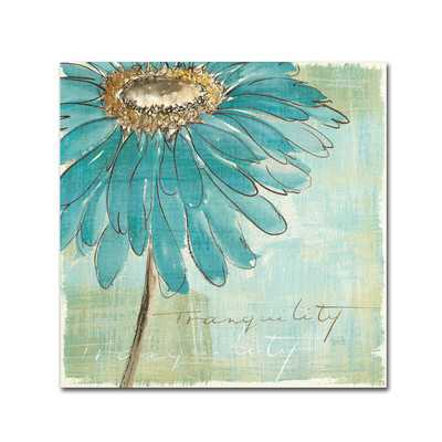 """Spa Daisies III"" by Chris Paschke Painting Print - 14"" H x 14"" W - Unframed - Wayfair"
