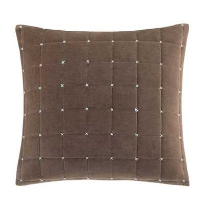 """Quilted Stitch Throw Pillow - Brown - 20"""" H x 20"""" W - Polyester/Polyfill - AllModern"""