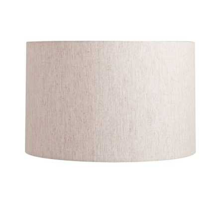 Straight Sided Linen Drum Lamp Shade, Medium, Flax - Pottery Barn