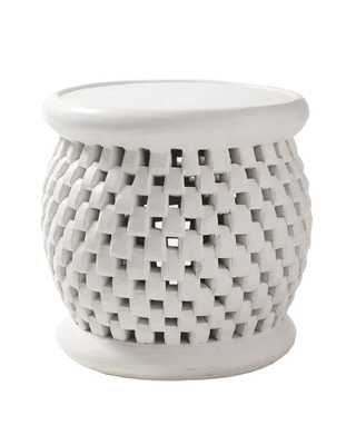 Bamileke Side Table - White - Serena and Lily