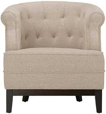 Travette Tufted Chair - Textured Solid Natural - Home Decorators