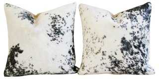 Speckled Black/White Cowhide Pillows, Pr - One Kings Lane