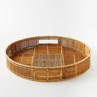 Woven Rattan Tray - Round - West Elm