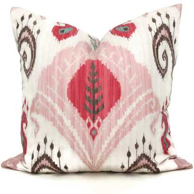 "Pink Ikat 20"" x 20"" Decorative Pillow Cover without insert - Etsy"