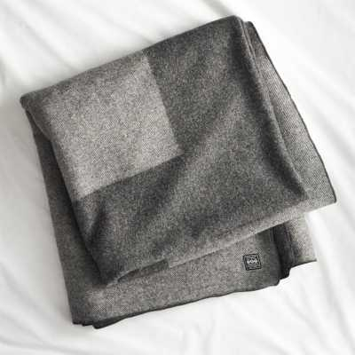 Faribault plus full/queen blanket - CB2