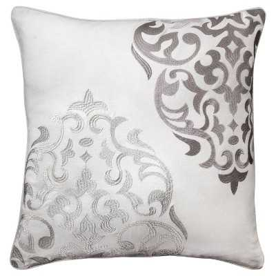 """Mudhutâ""""¢ Hope Embroidered Medallion Decorative Pillow - 20""""x20""""-Insert included - Target"""