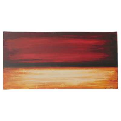 'Desertsunset' Painting Print on Gallery Wrapped Canvasby Brayden Studio - Wayfair