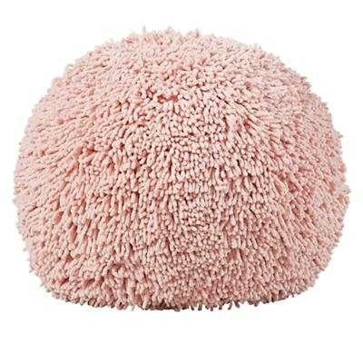 Shaggy Pouf -Pink - Land of Nod
