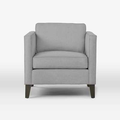 Dunham Down-Filled Armchair - Boxed - Heathered Crosshatch, Feather Gray - West Elm