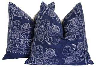 Tribal Indigo Batik Pillows - One Kings Lane