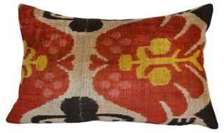 Jale 16x24 Silk Pillow, Red/Multi - One Kings Lane