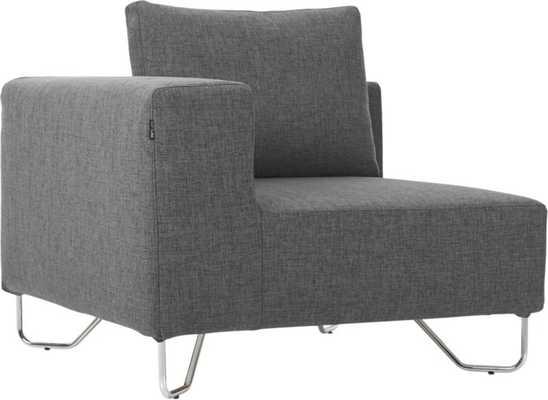 lotus grey corner chair - CB2