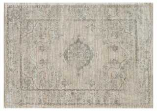 "Silas Rug, Beige/Blue - 7'6""x10'5"" - One Kings Lane"