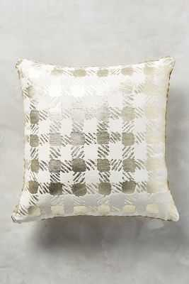 Golden Check Pillow - Anthropologie