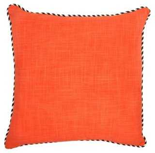 Piping 22x22 Cotton Pillow - One Kings Lane