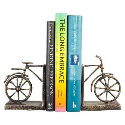 Danya B Bicycle Iron Bookend Set - Brown - Target