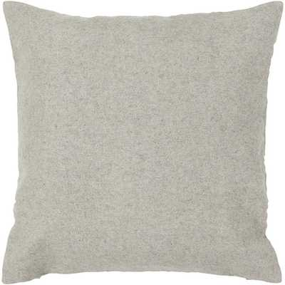 Textured Square Contemporary Wool Throw Pillow - AllModern
