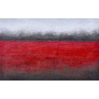 "Ikon Red Horizon Painting Print- 40"" H x 60""-Unframed - AllModern"