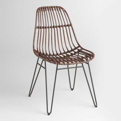 Rattan Flynn Hairpin Dining Chairs, Set of 2 - World Market/Cost Plus