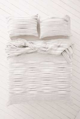 Sedona Space Dyed Duvet Cover-Full/Queen-Grey - Urban Outfitters