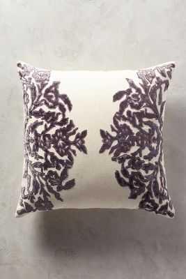 """Vining Velvet Pillow - 20""""sq. - Lilac - Polyfill insert - Anthropologie"""