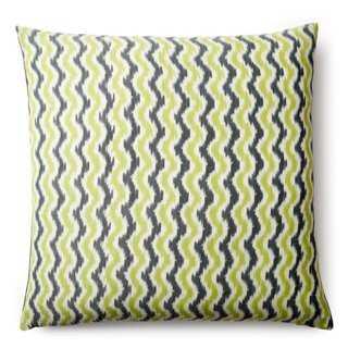 Chevron Cotton Pillow, Green - One Kings Lane