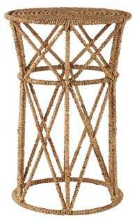 """Luna 13"""" Round Jute Side Table, Natural - One Kings Lane"""