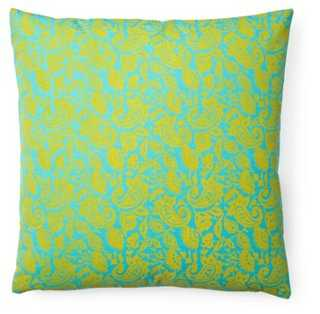 Petite Paisley 20x20 Cotton Pillow, Aqua - One Kings Lane