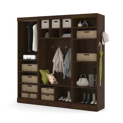 Pur by Bestar 86-inch Mudroom Kit - Chocolate - Overstock