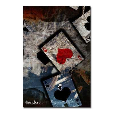 Poker I' Canvas Wall Art - Wayfair