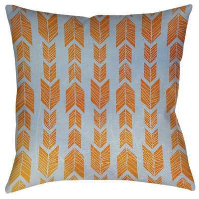 Featherwood Indoor/Outdoor Throw Pillow-Orange-16''- Polyester/Polyfill - Wayfair