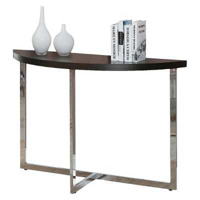 Monarch Metal Console Table - Cappuccino/Chrome - Target