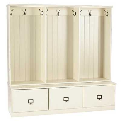 Beadboard Entryway Cabinets - Set of 3 - White - Ballard Designs