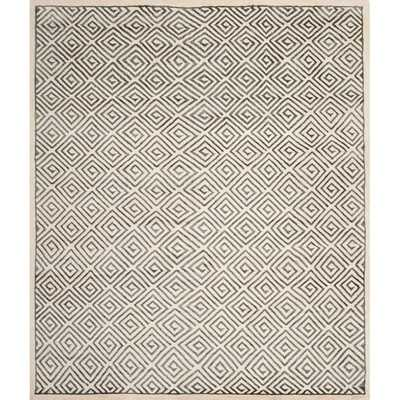 Mosaic Ivory / Grey Geometric Rug - Wayfair