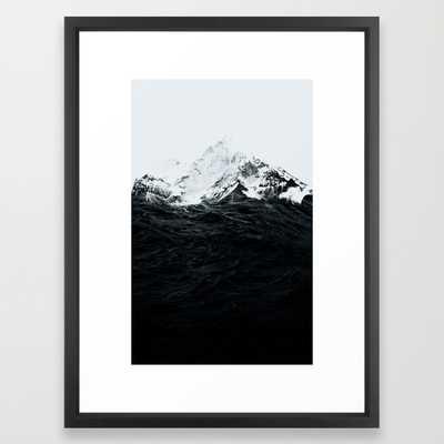 "Those waves were like mountains - 20"" X 26"" - framed - Society6"