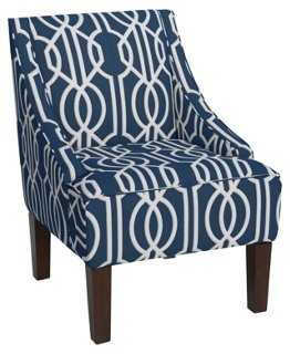 Fletcher Swoop-Arm Chair - One Kings Lane