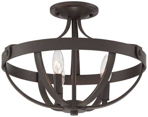 "Anaya 15"" Wide 3-Light Bronze Ceiling Light - Lamps Plus"