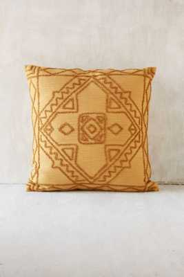 """Magical Thinking Roya Crewel Tonal Mustard 18"""" SQ Pillow-with insert - Urban Outfitters"""