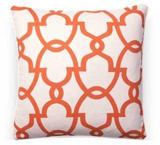 Dean 20x20 Linen-Blend Pillow, Orange-down insert - One Kings Lane