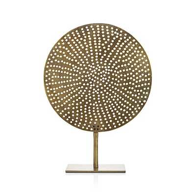 Brass Circle on Stand - Crate and Barrel