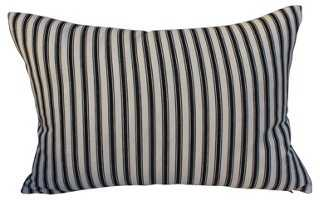 French Ticking Pillow - One Kings Lane
