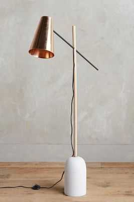 Slanted Copper Floor Lamp - Anthropologie