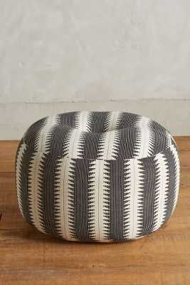 Flutura Pouf - Black & White - Anthropologie