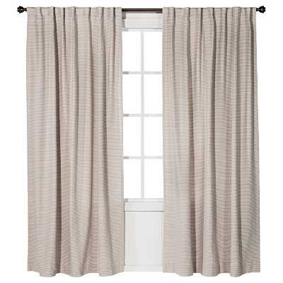 """Linen Weave Curtain Panel - Neutral/Ivory - 54""""W x 84""""L - Target"""