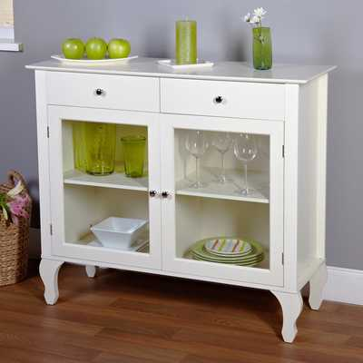 Simple Living Layla Antique White Buffet - Overstock