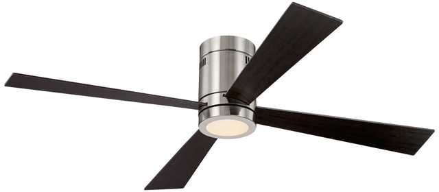 "52"" Casa Vieja® Revue Brushed Nickel - LED Ceiling Fan - Lamps Plus"